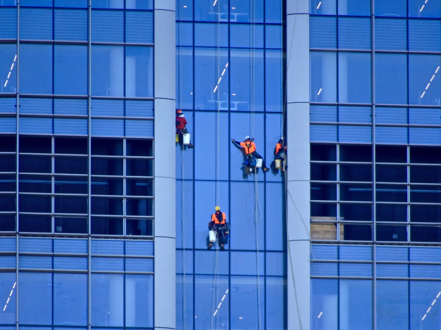 Lavage vitres hauteur